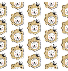 lion king pattern vector image vector image