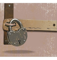 Metal lock vector