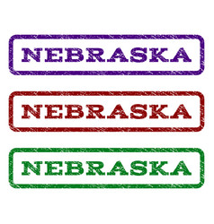 nebraska watermark stamp vector image