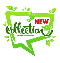 new spring season collection arrival template vector image vector image