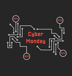 Pcb elements like cyber monday vector