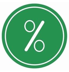 Percent icon vector