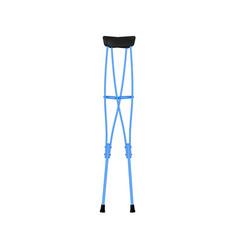 Retro crutches in blue design vector
