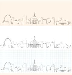Saint louis hand drawn skyline vector