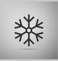 snowflake icon isolated on grey background vector image vector image