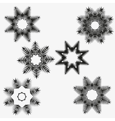 Snowflakes set on white background vector image