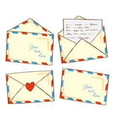 vintage envelope doodle vector image