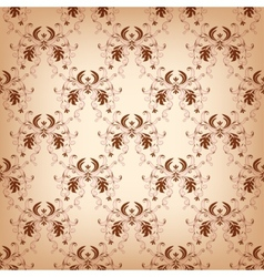 Vintage seamless with damask elements vector image