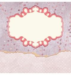 Vintage Valentines Pattern Card vector image vector image