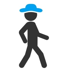 Walking spy icon vector