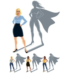 Woman superhero concept vector