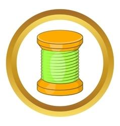 Wooden coil icon vector