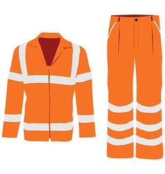 Worker pants and jacket vector image vector image