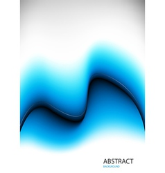blue background with waves vector image