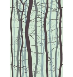 Forest branches seamless pattern fog in spring vector