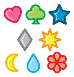 set of symbol vector image