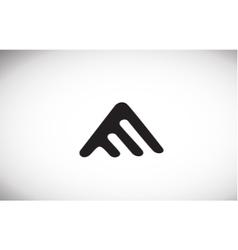 Alphabet letter a black white logo icon design vector