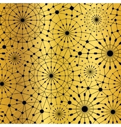 Gold black abstract network metallic vector