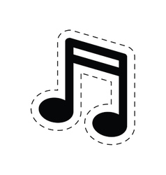 Note music sound melody pictogram vector