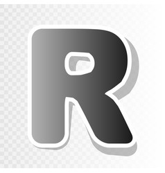 Letter r sign design template element  new vector