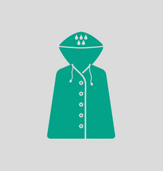 Raincoat icon vector