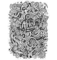Cartoon cute doodles africa vector