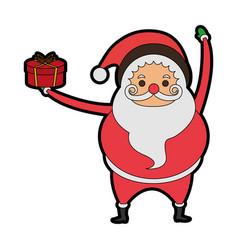 santa claus christmas character icon image vector image