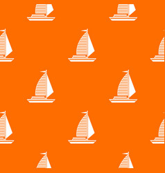 Yacht with sails pattern seamless vector