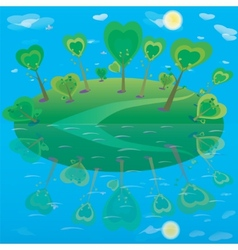 fantasy landscape Forest and sky vector image