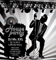House party background vector