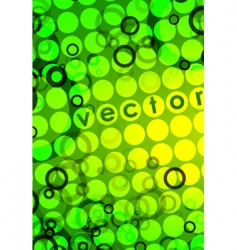 green pattern background vector image