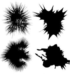 Inky splats vector