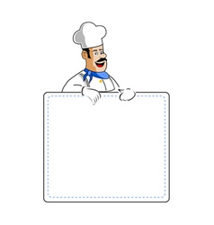 Chef holding cooking card vector