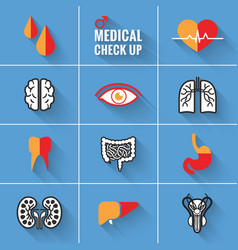 Medical check up man vector