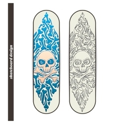 Skateboard design one vector