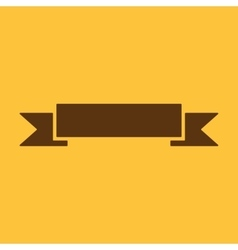 The banner icon ribbon symbol flat vector