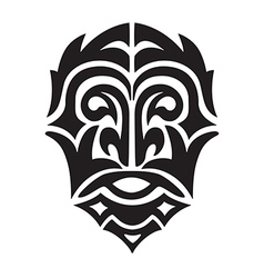 Tribal man head vector
