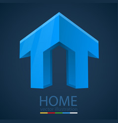 abstract 3d graphics with home shape vector image vector image