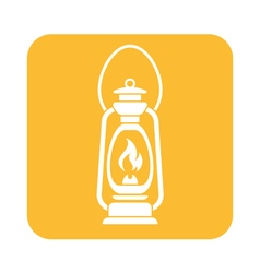 Antique Old Kerosene Lamp icon vector image