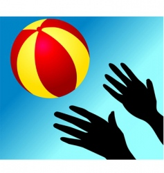 ball playing vector image vector image