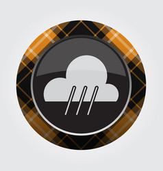 button orange black tartan - rain rainy icon vector image