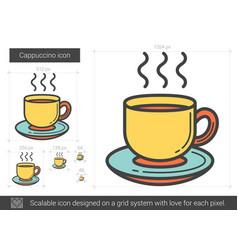 Cappuccino line icon vector