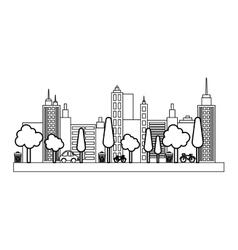 City urban view vector image