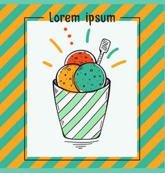 colorful ice cream balls vector image