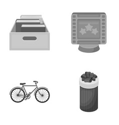 education sports and other monochrome icon in vector image vector image