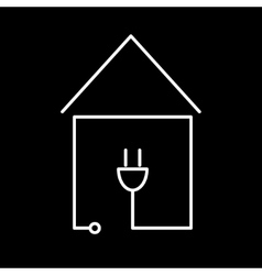 electricity communication house icon vector image