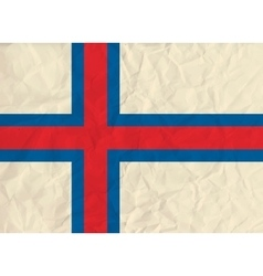 Faroe Islands paper flag vector image