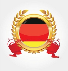 germany flag button vector image vector image
