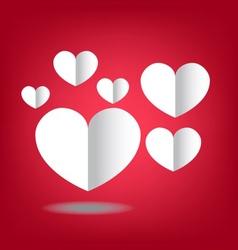 heart paper set vector image vector image