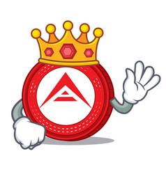 King ark coin mascot cartoon vector